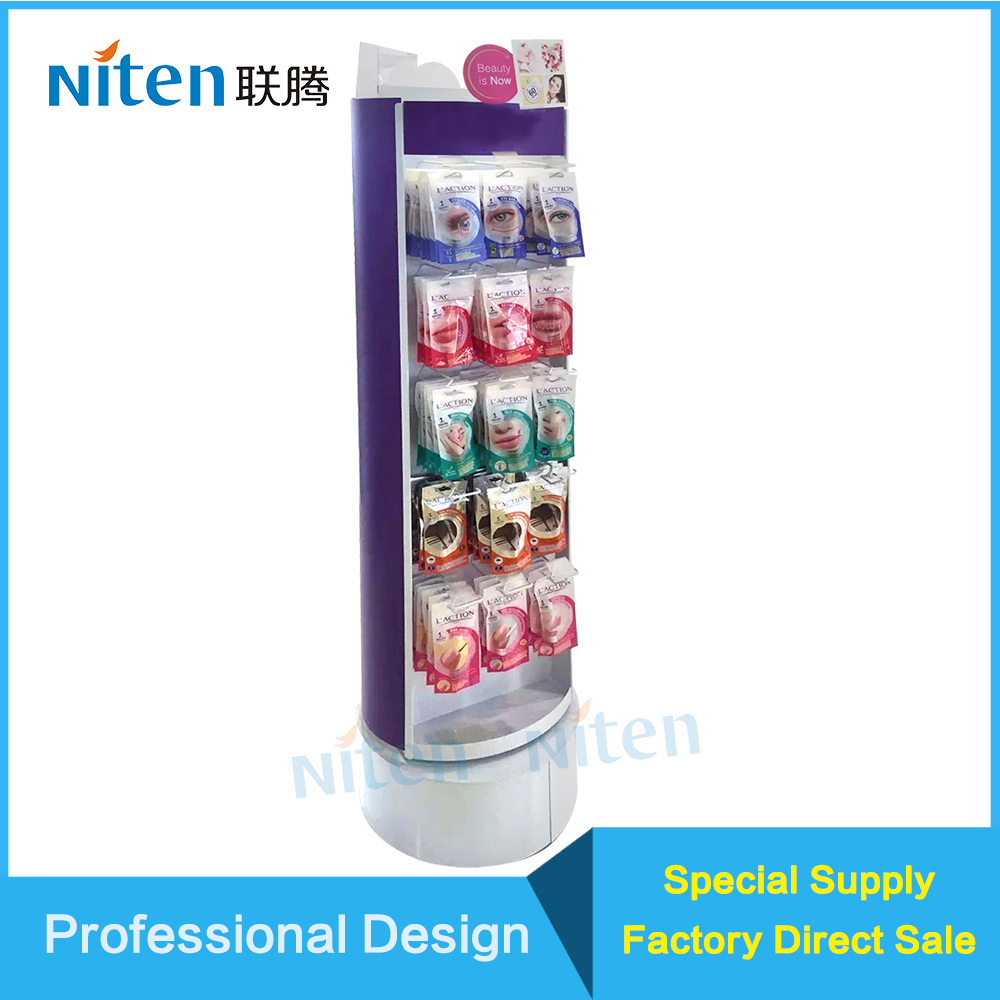 Promotion Double Sided Counter Display Unit Acrylic Metal Wood 4 sided counter rotating display unit