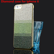 Stylish Glitter Diamond Gradual Change Color Hard Slim Back Case for Apple iPhone 6 4.7 Shiny Rhinestone Cover Luxury Phone Bags