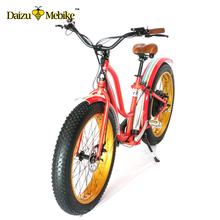 "New adult fat tire beach cruiser 26"" electric bicycle 2017 powerful bosch motor mountain/snow electric bike"