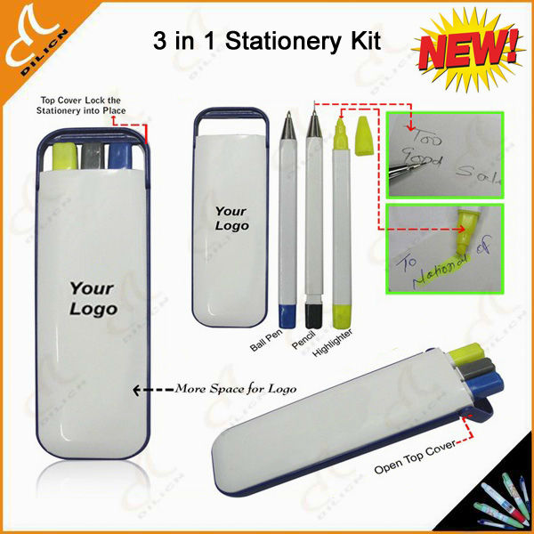 High quality 3 in 1 mini office stationery set