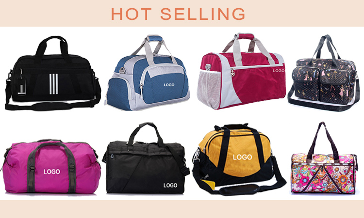 Custom Printing Logo Nylon Duffel Bag Type Sport Bags For Gym Practical Sports Gym Bag