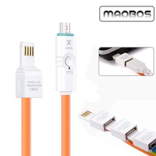 USB A 2.0 Female to Micro USB B Male OTG Adapter Data Cable For Samsung HTC Mobile hard drive