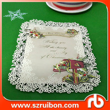 Custom laser cut wedding invitation card,wedding card decoration items