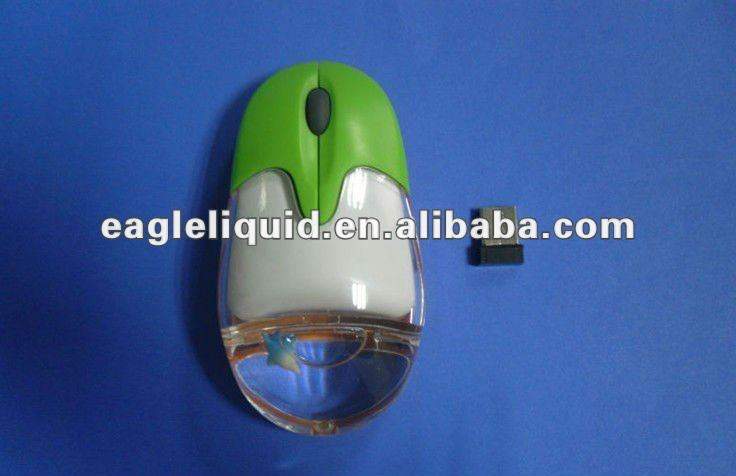 USB2.0 floaters promotion computer new design optical liquid crystal wireless pc mouse