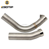 Professional made fashion durable double pipes motorcycle scooter middle muffler exhaust pipe