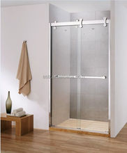cheap bathroom unit 8mm Tempered Glass shower screens retractable