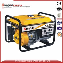 KANPOR ISO9001 customized colors 4.5kva electric gasoline generator