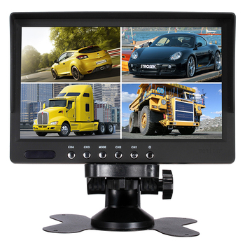 7 inch tft Digital Quad Monitor 4CH car bus lcd cctv monitor