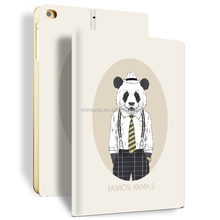 Newest Color Printing Pu Leather Smart Case for Ipad Mini, Folio Stand Cover Case for Ipad Mini123 (Mr. Bear)