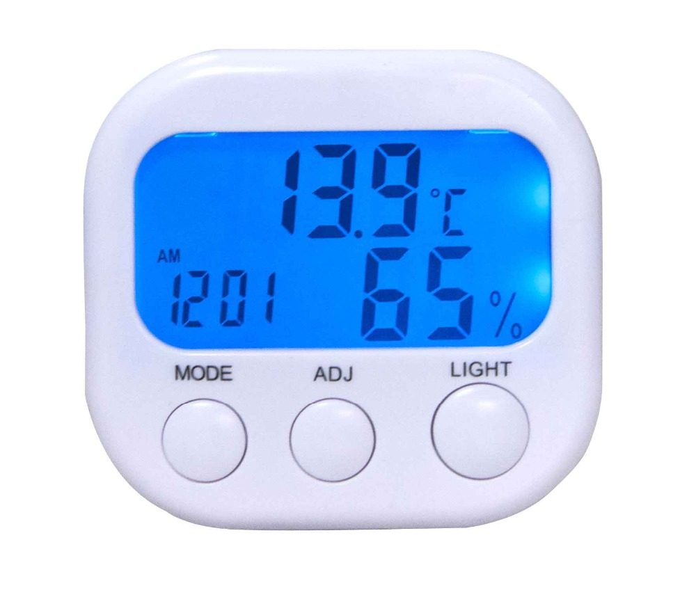 Backlight indoor humidity monitor digital thermostat temperature controller