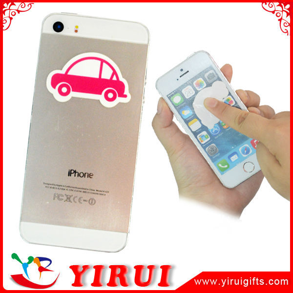 reusable mini silicone microfiber cleaner phone screen clean free stickers