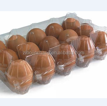 Disposable blister PVC 15 chicken eggs plastic clear tray