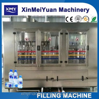 XMY New 2016 3-in-1 plastic bottled water filling machine