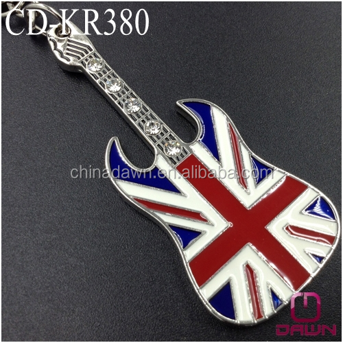 special stones guitar keychain for England promotion gift CD-KR380