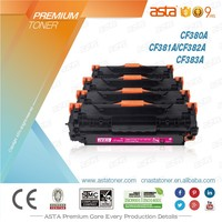 ASTA factory price compatible color toner cartridge CF380A CF381A CF382A CF383A used for hp M476dn
