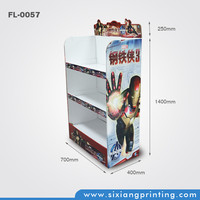 shopping mall cardboard retail floor stand advertising display for toys