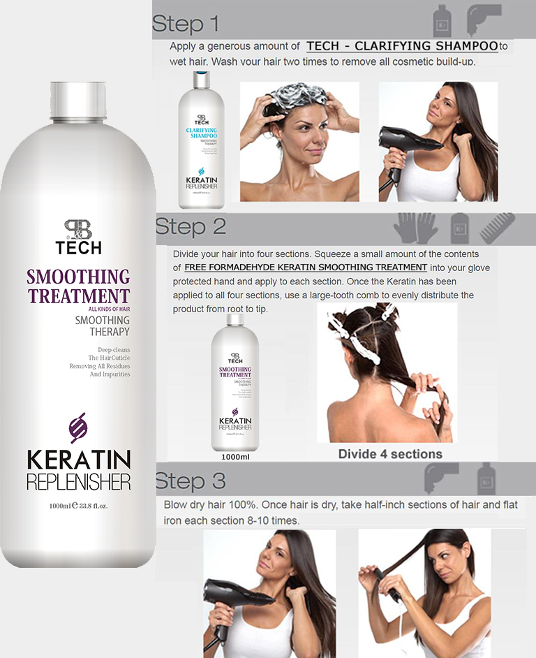 Professional hair Smoothing straightening pro tech protein bio cream Natural collagen brazilian keratin treatment