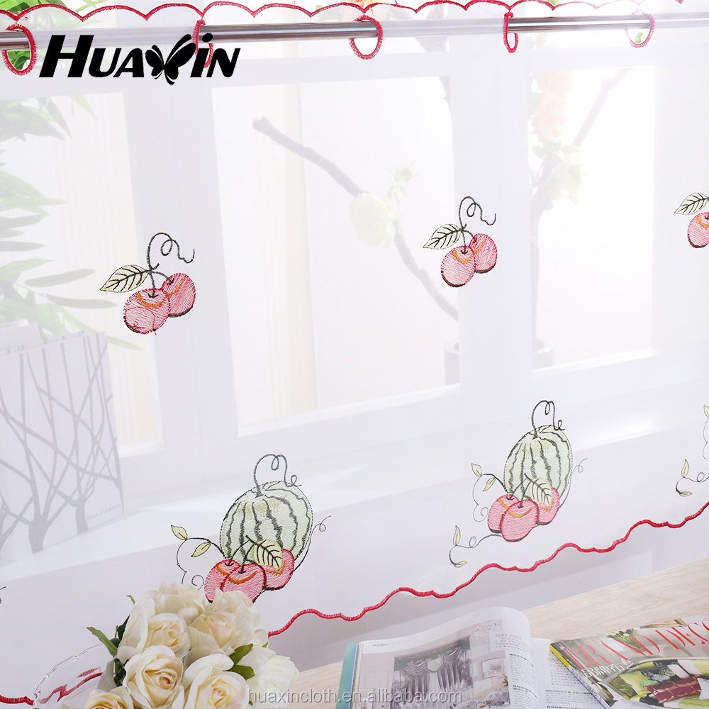 Made In China customized ready made kitchen curtains for hot selling