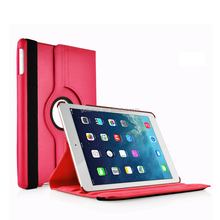 360 Rotation Stand Litchi Leather Auto Wake Up Function Flip Cover Case For Apple iPad Air / Pro