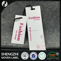 High Quality Paper Hang Tag Clothing Hangtag for Apparel/fabric swing tag waxed string printed new hangtag design
