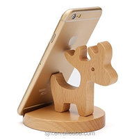 Cell Phone Stand Natural Wooden Creative