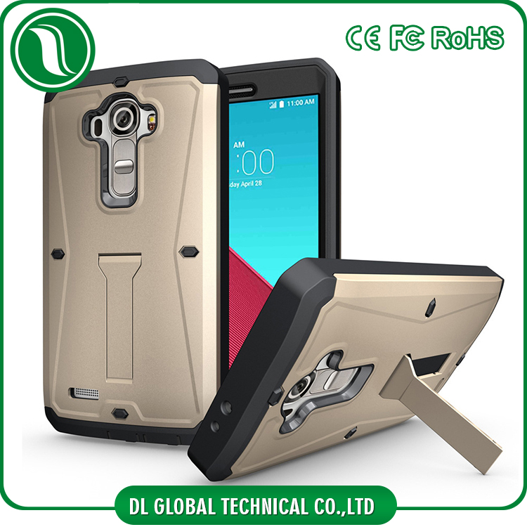 2016 phone case TPU+PC phone cover for LG G4 3 in 1 armor case with kickstand 360 degree protector case