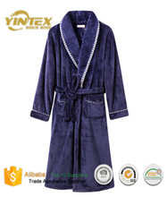Comfortable Coral Velvet Hotel Bathrobe
