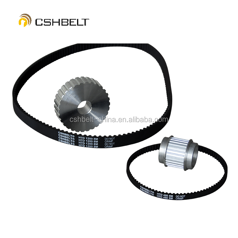 RPP14M black rubber timing belt