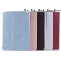 Free Shipping Innovative Environment friendly case cover For ipad 5 air Pu leather silicone case for 9 inch tablet pc