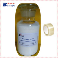 Water Based Acrylic Pressure Sensitive Adhesive/White latex pressure sensitive adhesive for BOPP Packaging Tapes