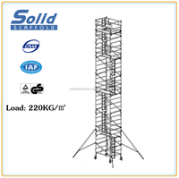 13m height mobile aluminum scaffolding tower