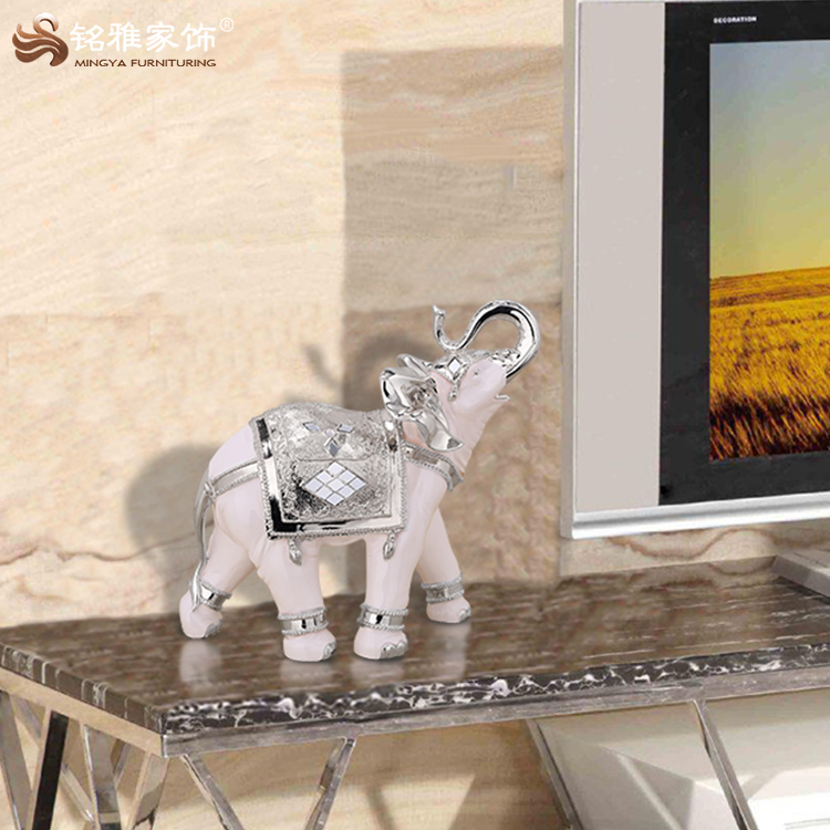 Home decor manufacturers resin animal sculpture elephant statue for table decor