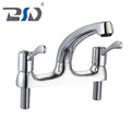 British Deck mounted Double handle Competitive price & High Quality English Naturalism Kitchen Water Faucet Sink Mixer Taps 1/2""