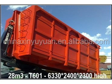 Recycled steel roll off dumpster universal hooklift bins