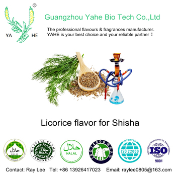 Hookah flavor high concentration liquid of Licorice flavour for Shisha and vape juice with wholesale price