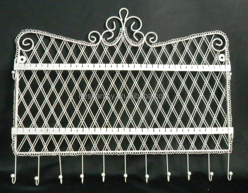 MYJ039 wall hanging jewelry organizer display metal wire View wire