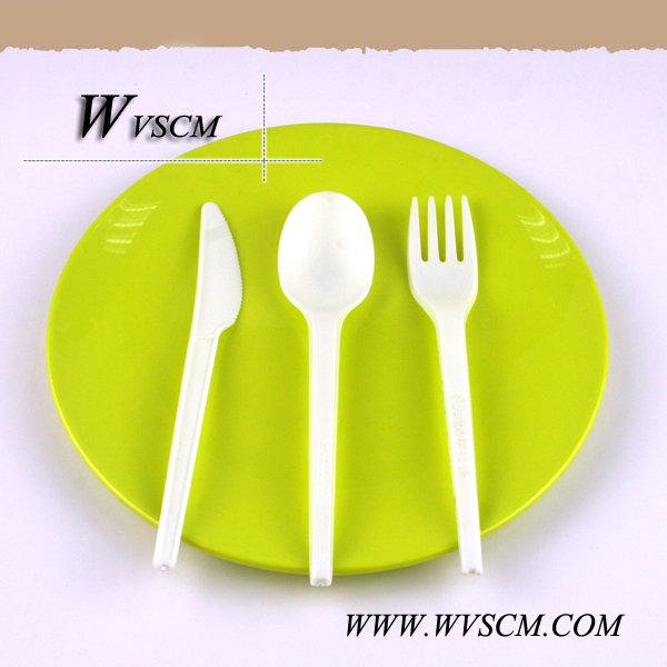 ECO disposable compostable plastic corn starch utensils cutlery