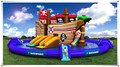 2016 PVC commercial amusesment park slide for sale, inflatable water slide