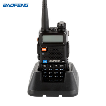 Baofeng Black UV-5R   Dual-Band 145-155/400-480 MHz FM Ham Two-way Radio, Improved Stronger Case, Enhanced Features