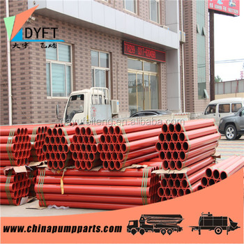 construction concrete mounted pump spare parts straight pm putzmeister harden straight dn125 st52 two layers pump steel pipe