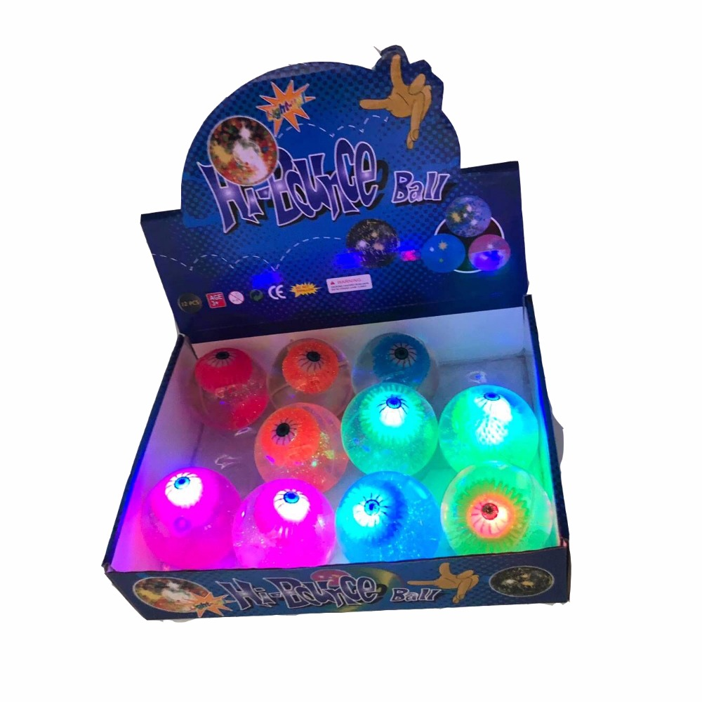 TY145 hot cheap promotion gift eye toys jumping ball christmas light