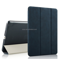 three folding leather case for apple ipad air 2 case for ipad air 2 cover for ipad 6 case