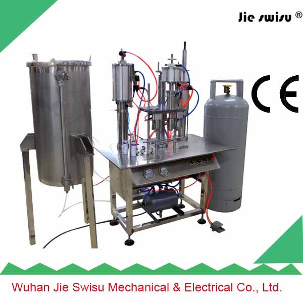 factory sale Semi-Automatic automatic aerosol filling machine for men love best body spray