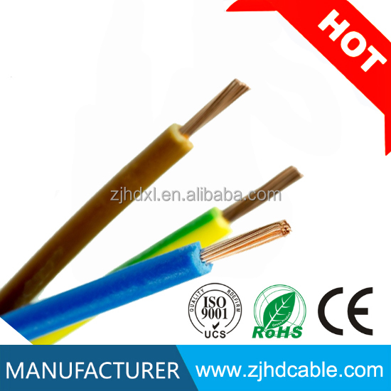 PVC insulated copper conductor electric cable three phase