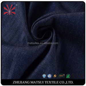 Wholesale lenzing tencel lyocell linen flax denim fabric from matsui textile