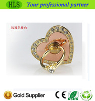 Hot Selling Shinestone Heart Shape Ring Holder Grip Phone Finger Hand Phone Holder Stand
