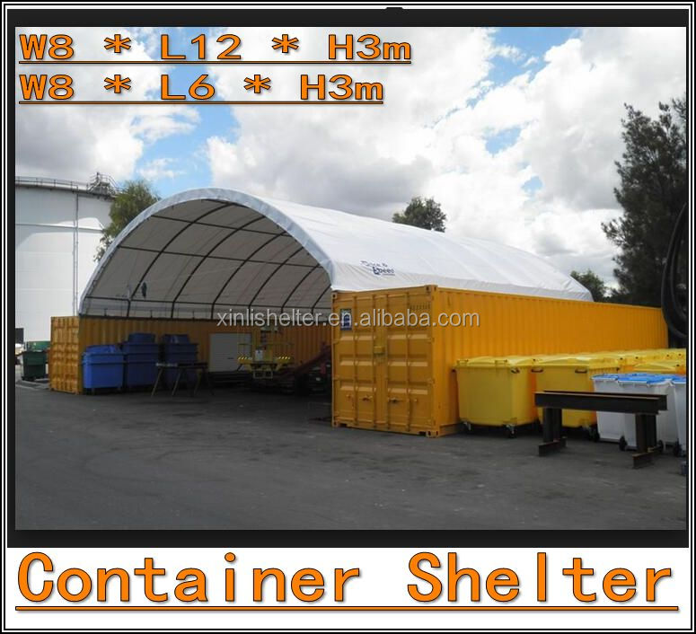 PVC Fabric No Weld Bottom Design Dome Container Shelters