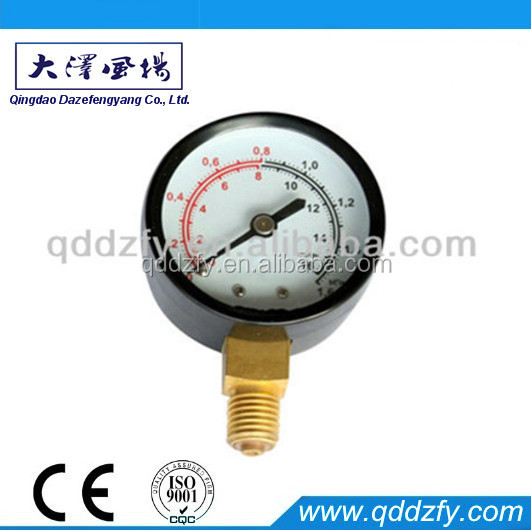 brass bourdon tube manometer