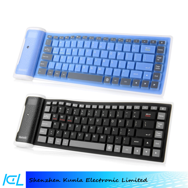 2016 portable Flexible wireless soft silicone Bluetooth gaming Keyboard for Ipad mini air
