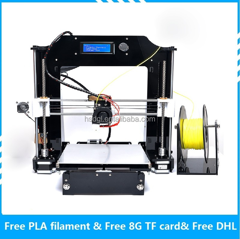 3D printer China 3D Printing equipment New developed larger LCD Monitor screen for 3d printer kit with free 3D printer filament